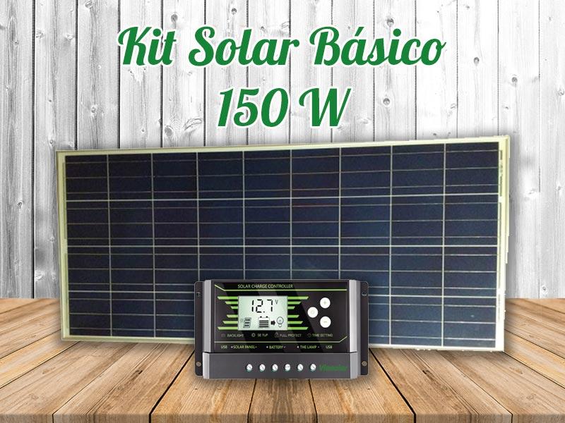 Kit solar autocaravana básico 150w