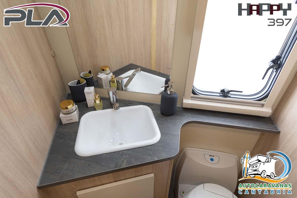 Autocaravana en alquiler en Cantabria lavabo