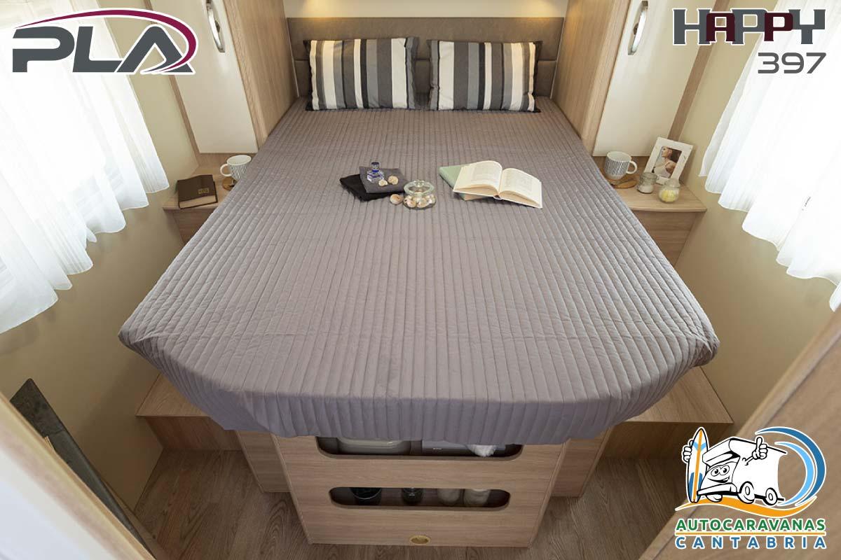 Autocaravana en alquiler en Cantabria dormitorio