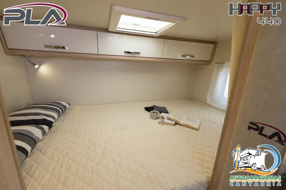 Alquiler Autocaravana en Cantabria dormitorio