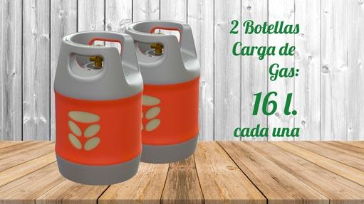 Kit GLP Autocaravana 2 botellas 16 litros