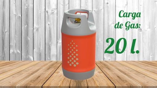 Kit GLP Autocaravana Botella 20 litros