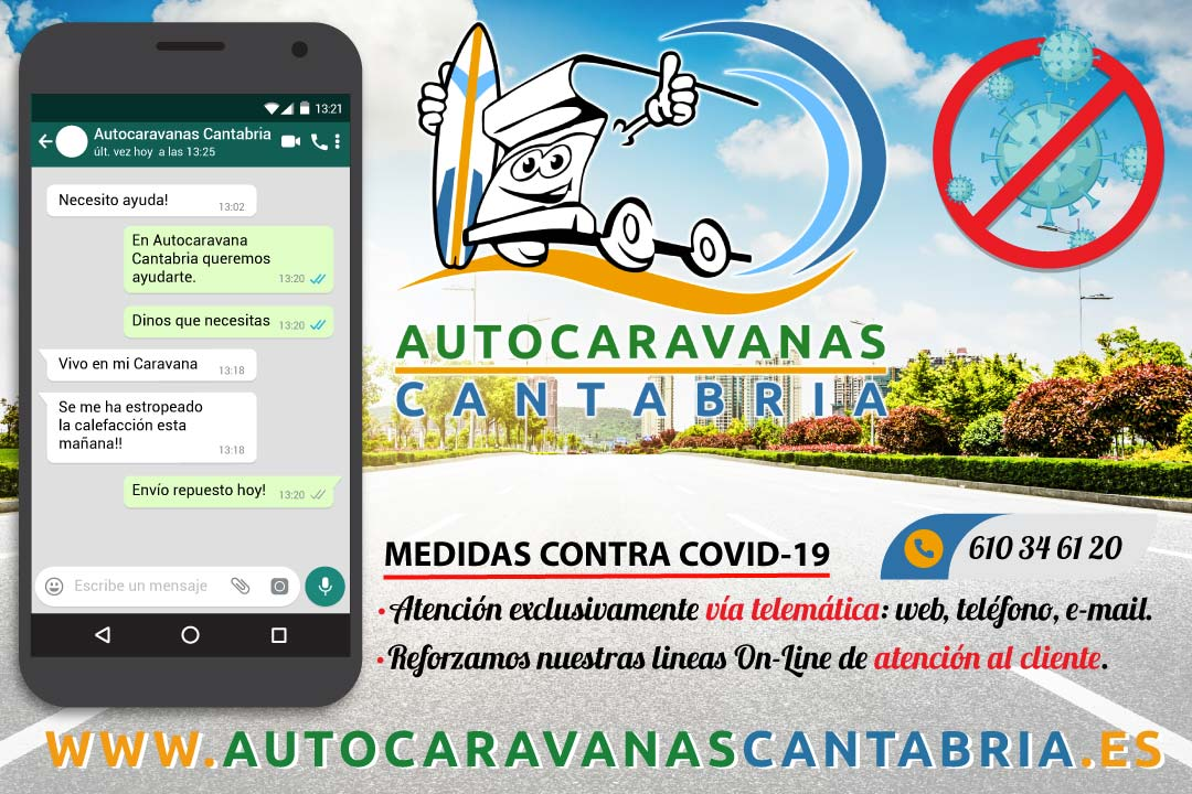 Coronavirus Autocaravanas Cantabria