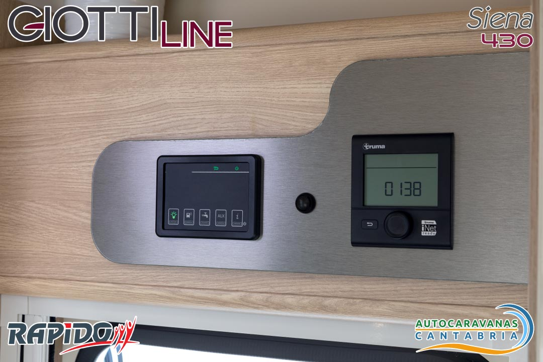 GiottiLine Siena 430 2021 panel de control