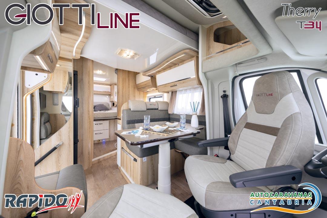 Autocaravana GiottiLine Therry T34 2021 comedor
