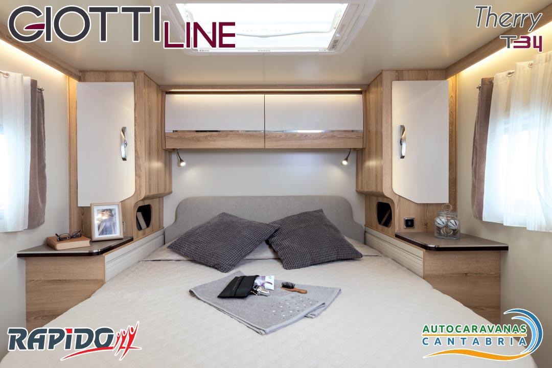 Autocaravana GiottiLine Therry T34 2021 dormitorio