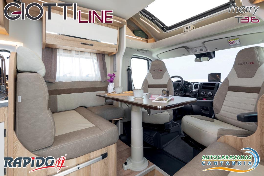 Autocaravana GiottiLine Therry T36 2021 comedor