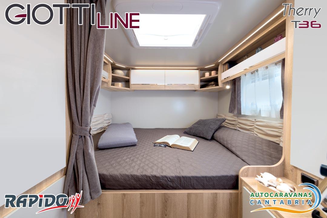 Autocaravana GiottiLine Therry T36 2021 dormitorio