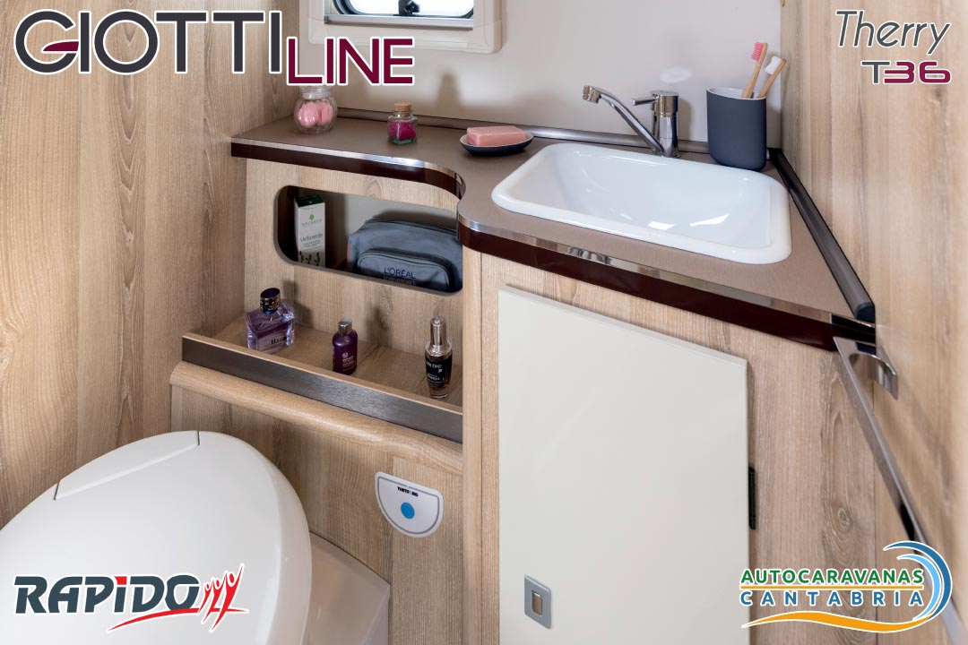 Autocaravana GiottiLine Therry T36 2021 baño